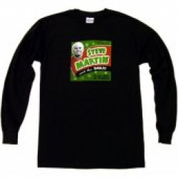 Steve Martin Long Sleeve Black Tee